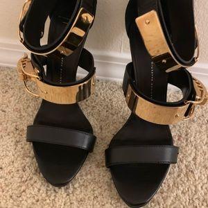 Giuseppe Zanotti Black Leather Heels